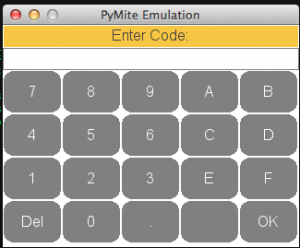 5x4 keypad emulated