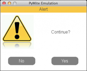 Yes or No dialog box emulated